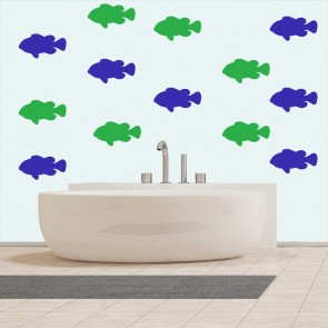 goldfish under the sea creative multipack wall stickers bathroom home art decals