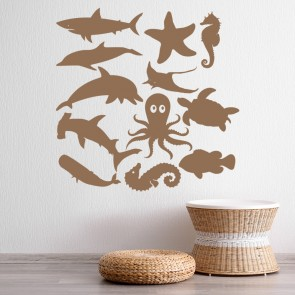 Sea Life Group Under The Sea Creative Multipack Wall Stickers Bathroom Art  Decal Part 77