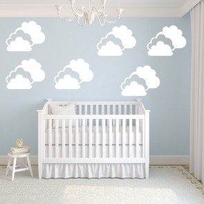 Rain Clouds Decorative Patterns Creative Multipack Wall Stickers Home Art  Decals Part 77