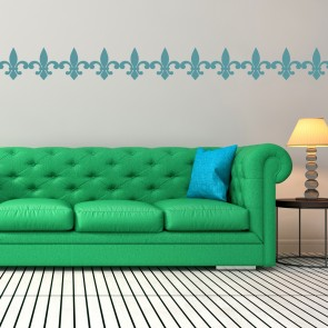 Elegant Fleur De Lis Decorative Patterns Creative Multipack Wall Stickers Home Art  Decal Part 21