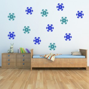 Star Snowflake Wall Sticker Pack Christmas Decoration Wall Decal Shop Home  Decor