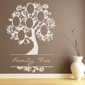 Family Tree Elegant Named Picture Family Tree Wall Sticker Home Decor Art  Decals Part 90