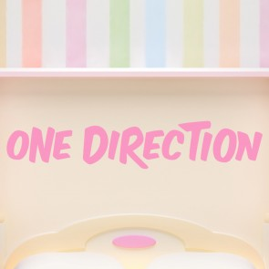 One Direction Wall Sticker Band Name Logo Wall Decal Pop Music Home Decor