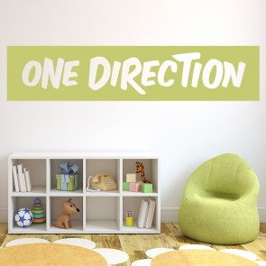 One Direction Boyband Band Name Logo Wall Stickers Music Décor Art Decals Part 77
