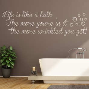 Life Is Like A Bath Comedy Wall Quote Wall Stickers Home Décor Art Decals Part 55