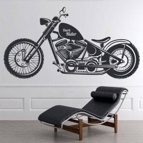 Dark Rider Motorcycle Motorbike Wall Stickers Transport Art Decals Decor Part 54