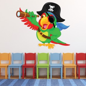 Pirate Wall Decal Parrot Wall Sticker Kids Bedroom Home Decor