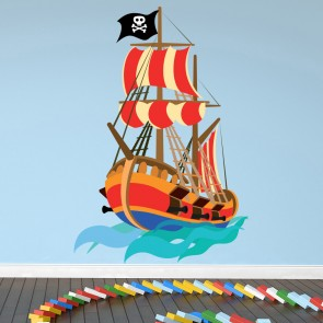 Pirate Wall Sticker Pirate Ship Wall Decal Kids Boys Bedroom Home Decor