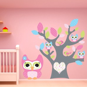 Owl Wall Sticker Heart Tree Wall Decal Baby Nursery Home Decor Part 79