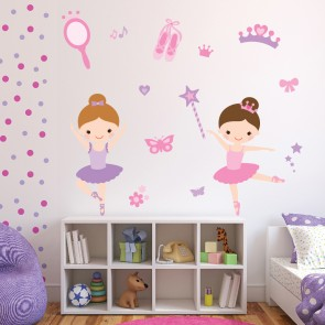 Ballerina Wall Sticker Set Ballet Dance Wall Decal Girls Bedroom Nursery  Decor