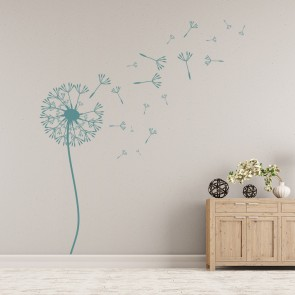 Dandelion Wall Sticker Floral Flower Wall Decal Living Room Home Decor Part 85
