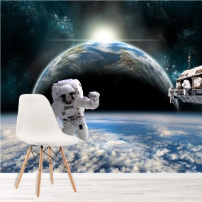 Astronaut Space Wall Mural Planet Earth Photo Wallpaper Boys Bedroom Home  Decor Part 97