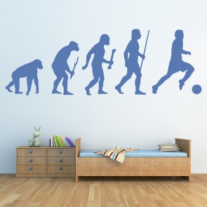 Football Evolution Ape To Man Football Wall Stickers Sports Decor Art Decals Part 96
