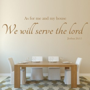 Serve The Lord Wall Sticker Bible Verse Wall Decal Christianity Home Decor & God u0026 Religious Wall Stickers | Iconwallstickers.co.uk