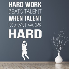 Hard Work Sports Inspirational Quotes Wall Sticker Home Art Decals Decor Part 76