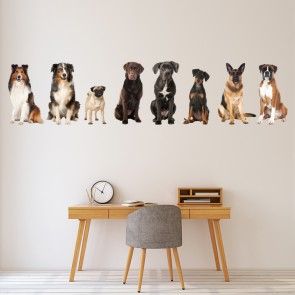 Dog Wall Sticker Pet Animal Grooming Wall Decal Bedroom Home Decor Art