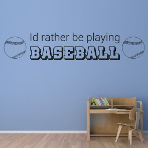 Playing Baseball Wall Sticker Quote Decal Kids Bedroom Home Decor