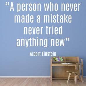 Never Made A Mistake Wall Sticker Einstein Quote Wall Decal Motivation Decor