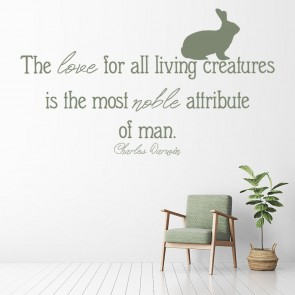 All Living Creatures Charles Darwin Life Quote Wall Sticker Home Art Decal  Decor