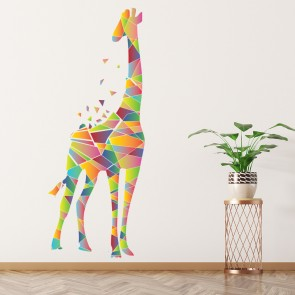 Geometric Giraffe Wall Sticker Safari Animals Wall Decal Kids Bedroom Decor  Art