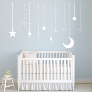 Moon U0026 Stars Wall Sticker Decorative Nursery Wall Decal Baby Home Decor Part 60