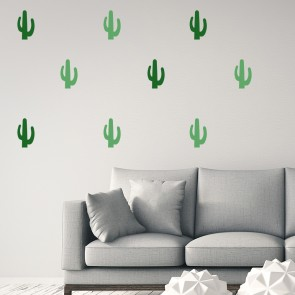 Cactus Wall Sticker Cacti Tree Wall Decal Living Room Bedroom Home Decor
