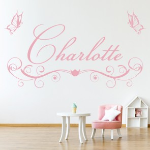 Personalised Name Wall Sticker Butterfly Wall Decal Girls Room Nursery Decor Part 42