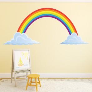 Rainbow Wall Sticker Clouds Wall Decal Kids Nursery Home Decor