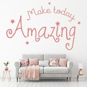 Make Today Amazing Wall Sticker Inspirational Quote Wall Decal Kitchen Decor