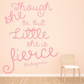 Though She Is Little Wall Sticker Shakespeare Quote Wall Decal Girls Home  Decor Part 47
