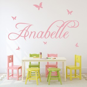 Personalised Name Wall Sticker Butterfly Wall Decal Girls Bedroom Home Decor Part 81