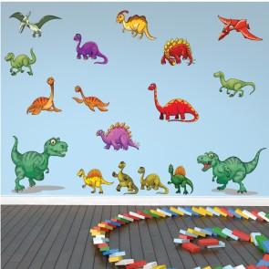 Fun Dinosaur Stegosaurus T-Rex Wall Sticker Set WS-47395