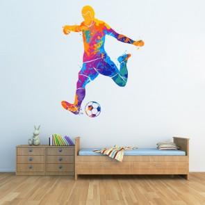 Football Player Football Team Boy Children Quote Art Wall Sticker Decal UK 284