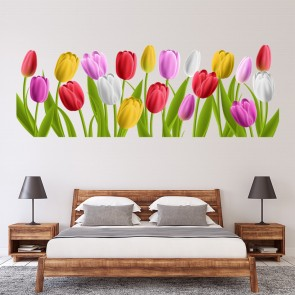 9aeadb4a2 Colourful Tulips Spring Flowers Wall Sticker