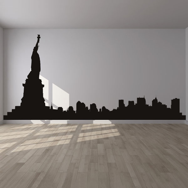 New York City Skyline America USA Wall Stickers Living Room Decor Art Decals