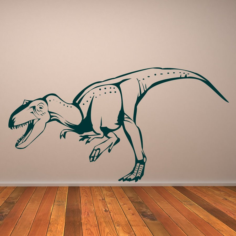 T-Rex Trex Prehistoric Dinosaur Wall Sticker Childrens Nursery Bedroom Art Decal