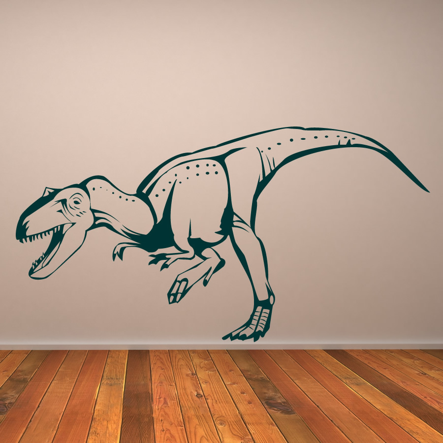 T-Rex Trex Prehistoric Dinosaur Wall Sticker Childrens Nursery Bedroom Art Decal