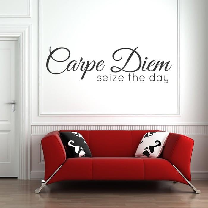 Carpe Diem Wall Sticker Bathroom Quote Decal Inspirational Home Decor