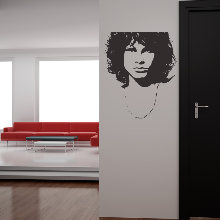 Jim Morrison Wall Sticker Music The Doors Wall Decal Icon