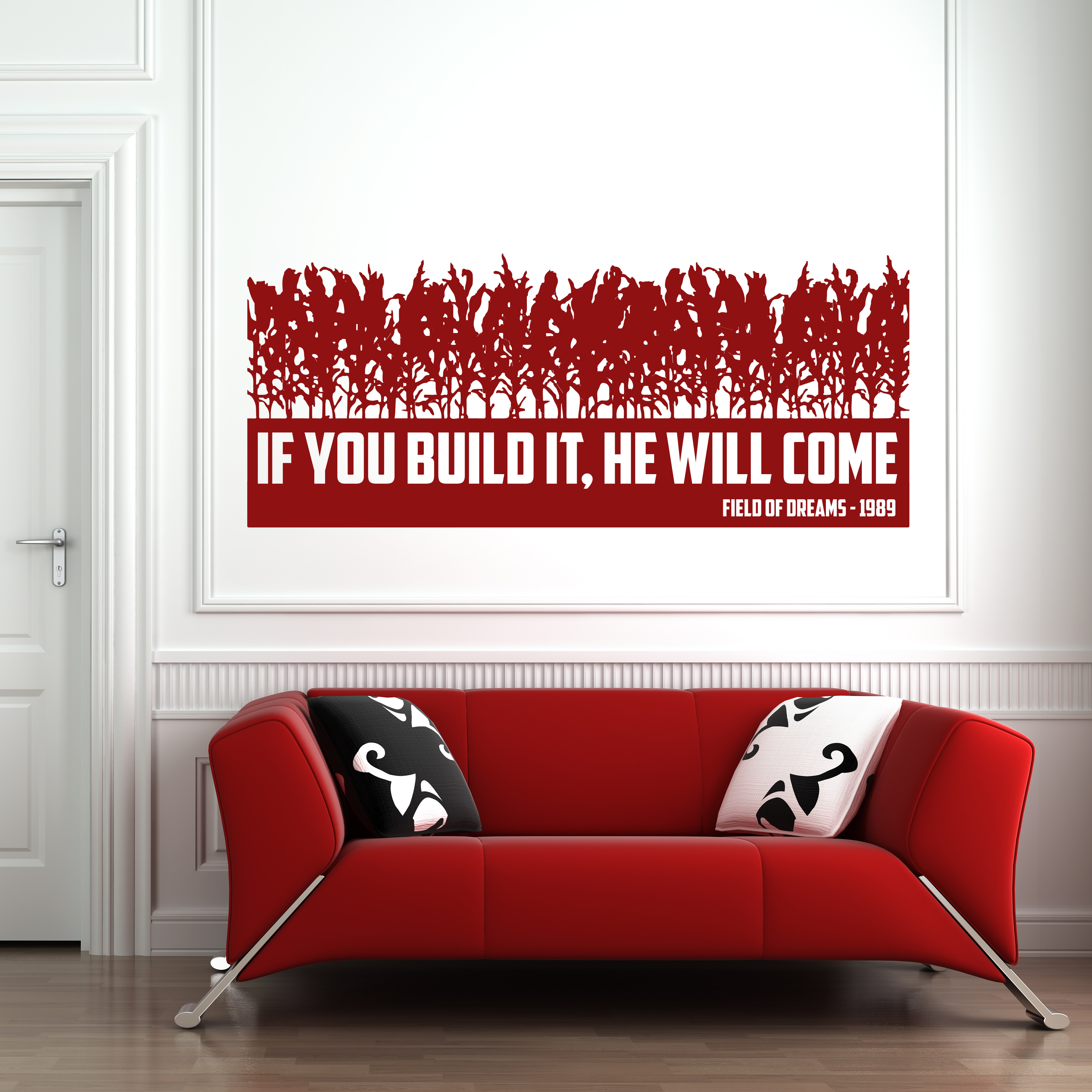 They Will Come Wall Sticker Field Of Dreams Quote Wall