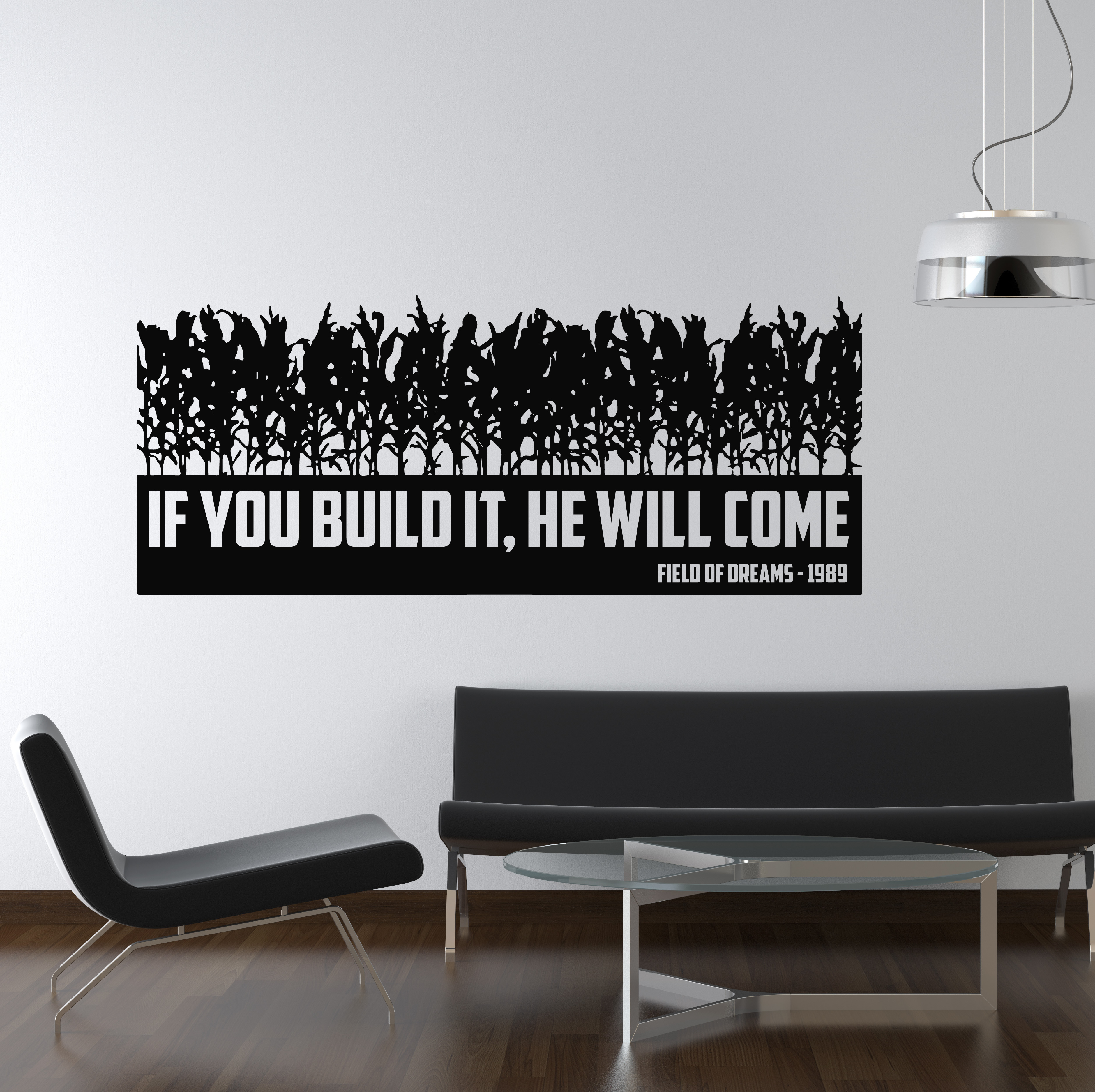 You Build It They Will Come Field Of Dreams TV Movie Wall - How do u put up a wall sticker